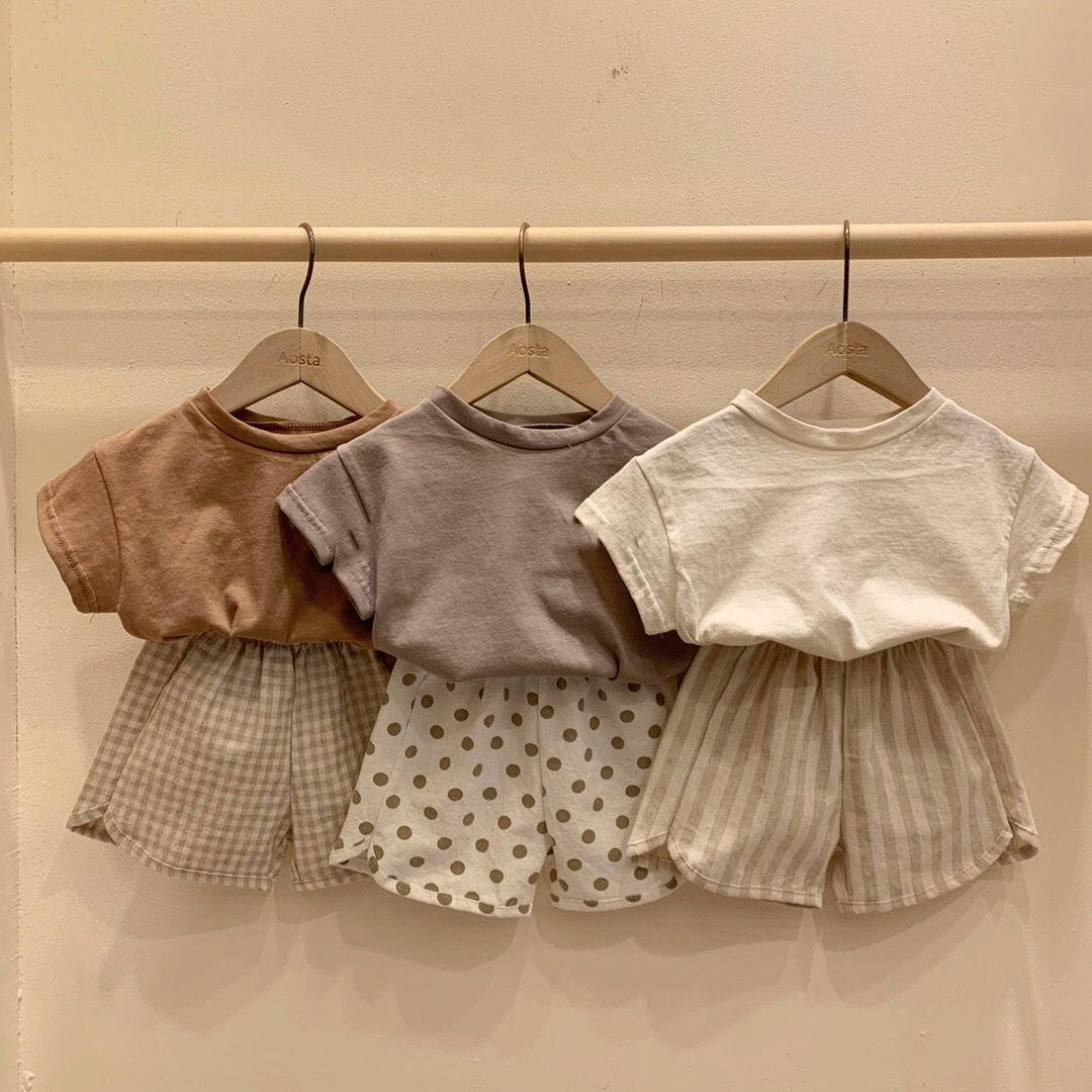 VIDMID Kids T-Shirt Cotton Short Sleeve T-shirts For Boys Tee Girls Tops Children Summer Clothes Baby Sweatshirt Children  P681 1