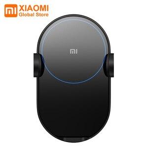 Image 1 - Xiaomi chargeur de voiture sans fil déformation électrique 20W haute vitesse sans fil Flash charge rapide voiture support pour téléphone