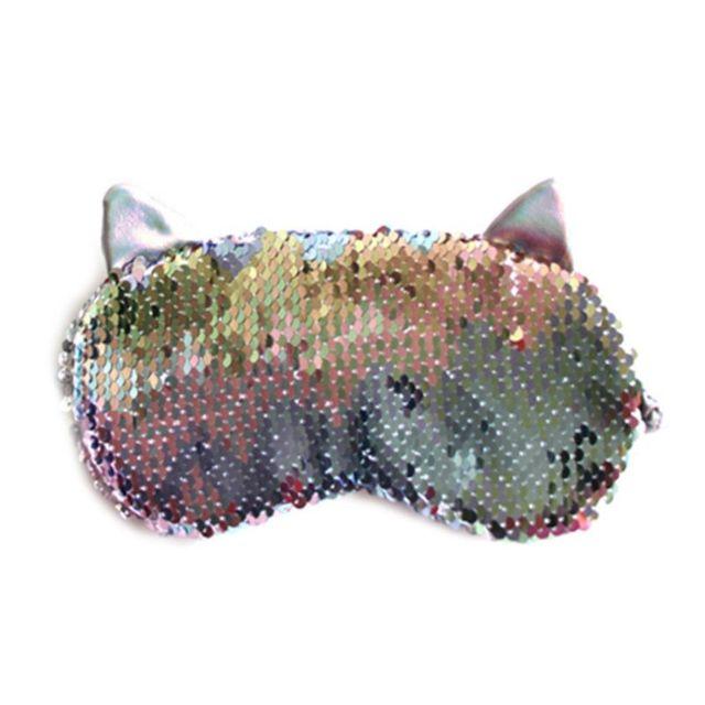 Фото женская милая маска для глаз с кошачьими ушками мультяшная сна цена