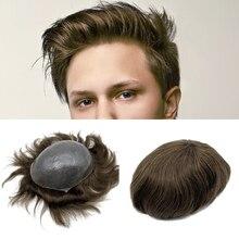 Dünne Haut Nach und Lager Hohe Qualität Menschliches Haar Natürlichen Haaransatz Haar stück, toupets