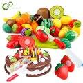 Pretend Play Set Kunststoff Lebensmittel Spielzeug DIY Kuchen Spielzeug Schneiden Obst Gemüse Lebensmittel Pretend Spielen Spielzeug Für Kinder Pädagogisches Geschenk GYH