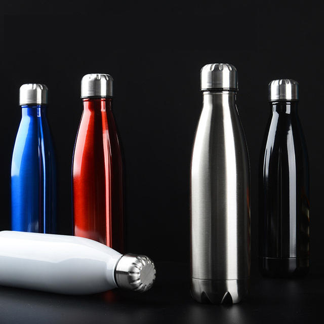 Stainless Steel Hot Cold Thermos Water Bottle Vacuum Insulated Cola Bottle Double-Wall Outdoor Travel Gym Sports Flask 6