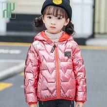 HH Winter jacket for boy little girls coats contrast color Hooded Outerwear warm jacket parka children cotton down jacket kids недорого