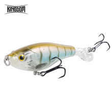 Kingdom New Whopper Popper Fishing lures 9cm 11cm Hard Baits Soft Rotating Tail Topwater plopper High Quality Floating wobblers(China)