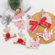 Милый Мультфильм рождественские подарки девушка заколки для