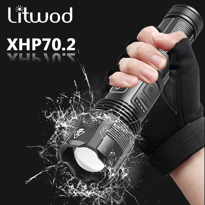 High Quality XHP70 2 Tactical Hunting Led Flashlight Power by 18650 AAA Battery Usb Rechargeable Torch Zoomable XHP50 2 Lantern
