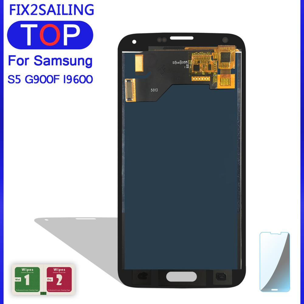 S5 LCD Digitizer Lcd-Display Touch-Screen G900T Samsung Galaxy for G900m/G900a/G900t/G900fd title=