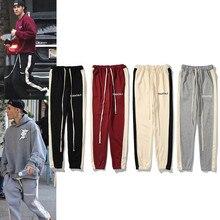 Black Pants Hoodie Fog Essentials Joggers Men Kanye-West Ovesized-Trousers Streetwear