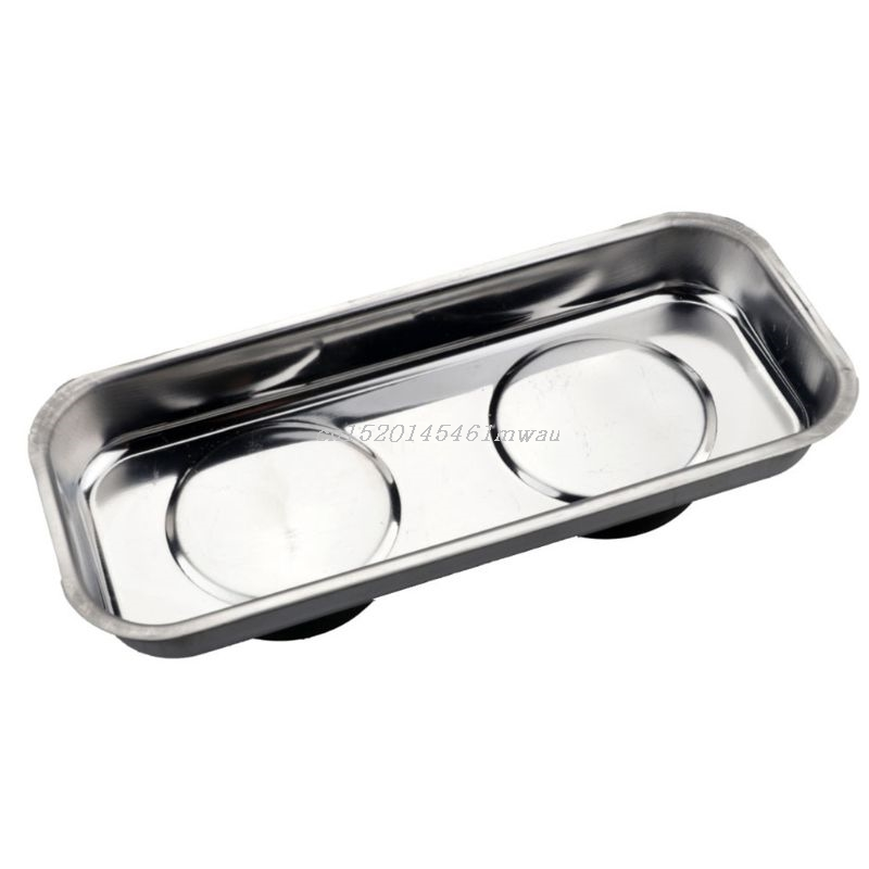 Square Magnetic Tray Sucker Stainless Steel Strong Permanent Magnet Bowl New 2019