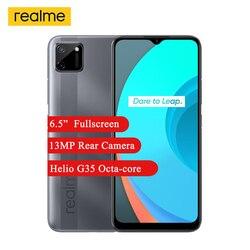 Realme C11 смартфон 2 Гб оперативной памяти, 32 Гб встроенной памяти, 6,5 дюйммини-капля полноэкранный Helio G35 Octa Core 5MP Фронтальная камера 5000 мА/ч, 4G, мобиль...