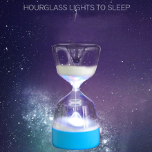 LED Hourglass Sleep Lamp Induction Timers usb 7Color Night Light For Baby Sleep lamp Bedroom Home Decoration