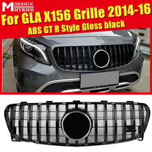 GLA X156 Sport GT R Front Grille Grill ABS Black For MercedesMB GLA180 GLA200 GLA250 GLA45 Look Grills Without Sign&camera 14-16