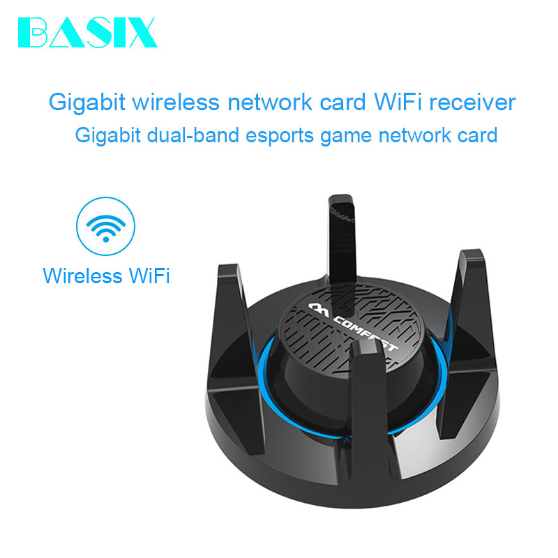 Basix haute vitesse 1900Mbps double bande 2.4/5GHz Gigabit USB3.0 sans fil WiFi carte réseau adaptateur pour Windows