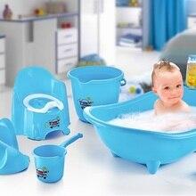 Baby Bathtub Set Baby Bath Tub Team 5 PCs Set baby shower bath 4 Color seat support security tankard Bucket Washing Apparatus