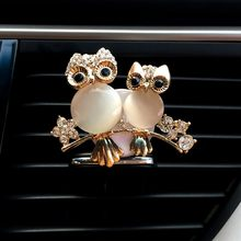 Car Accessories Air Freshener Car Gift Air Outlet Fragrant Double owl shape Freshener Fragrant Clips Gift For Car decoration(China)