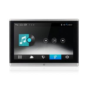 Image 2 - أندرويد OS سيارة راصد مسند الرأس مشغل فيديو USB/SD/FM TFT LCD شاشة رقمية تعمل باللمس زر لعبة التحكم عن بعد سيارة MP5 لاعب