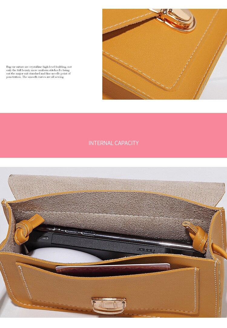 H9ff4f3c6e64940bda779732c20cd6073p Fashion Small Crossbody Bags for Women 2019 Mini PU Leather Shoulder Messenger Bag for Girl Yellow Bolsas Ladies Phone Purse