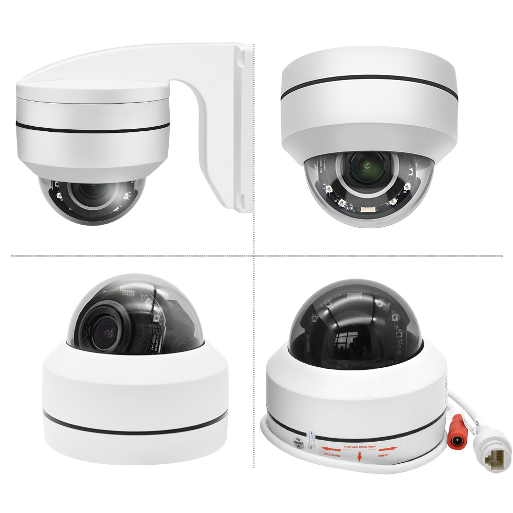 lowest price Hikvision Compatible PTZ IP Camera 5MP 4X-16X ZOOM Speed Dome Camera Outdoor IR 50M H 265 CCTV Security Camera IP IP67 IK10
