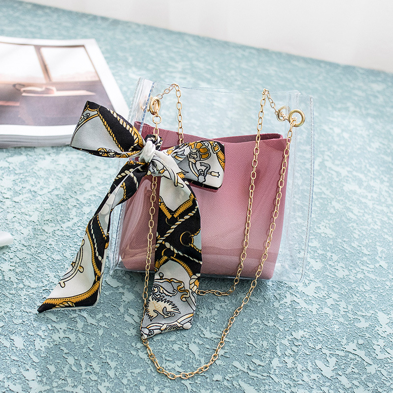 Women Bag Fashion Brand Design Small Square Shoulder Bag Clear Transparent PU Composite Messenger Bags New Female Handbags