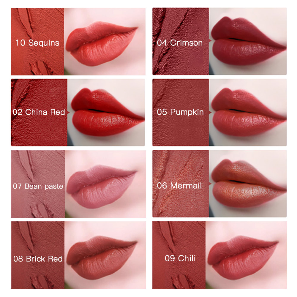D S M Goddess Blooming Lipsticks Moisturizing Makeup Lipstick Waterproof Lipstains Sexy Red Cosmetics Makeup Lipstick in Lipstick from Beauty Health