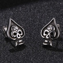 Punk Rock Skull Mens Earrings For Women Stainless Steel Small Stud Earings Fashion Jewelry Gifts Drop shipping