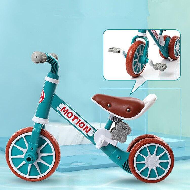 2 en 1 triciclo multifuncional para niños bicicleta de equilibrio desmontable sin pedales juguetes de montar triciclo para niños Scooter de deslizamiento andador