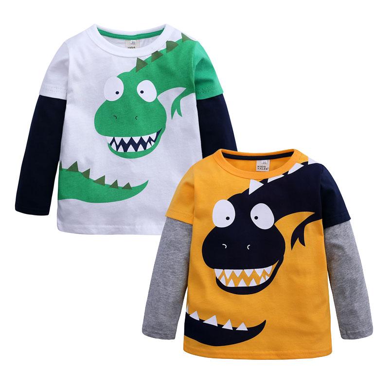 Elvesnest Children Boys T-shirt Cotton Long Sleeve Kids Clothes T Shirt Cartoon Kids Tops Spring Autumn Boys Clothes 3-10 Years