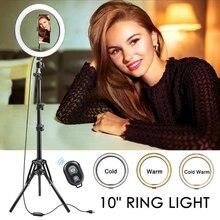 """Foleto LED anneau lampe 6/8/10 """"réglable Selfie anneau lumière avec trépied et support pour téléphone pour téléphone flux en direct maquillage YouTube"""