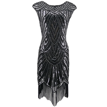 女性 1920s ダイヤモンドスパンコール修飾語フリンジグレートギャツビーフラッパードレスキャップスリーブレトロミディパーティードレスウクライナ vestido