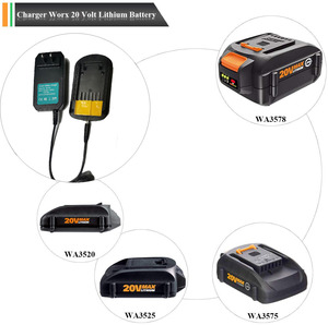 Image 5 - UE/US Plug chargeur pour Worx WA3875 20V 18v Li ion batterie 2.0A chargeur pour Worx WA3520 WA3525 WA3578 WA3575 WA3742 chargeur rapide
