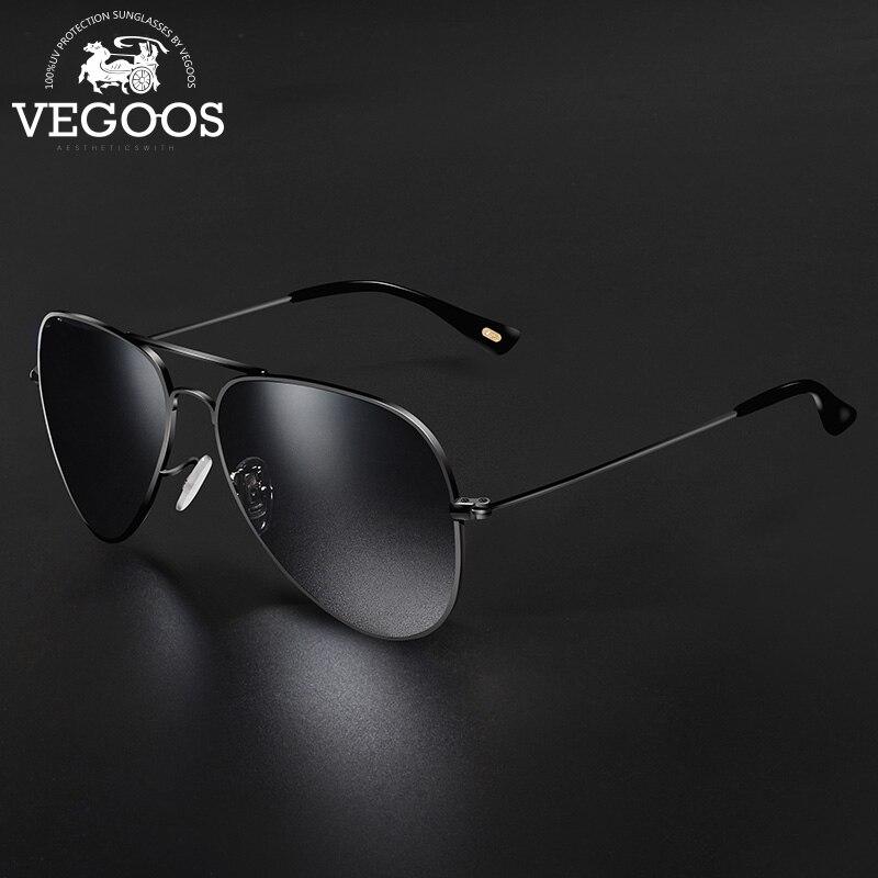 Silver Polarized Mens Retro Aviator Sunglasses Sport Fishing Driving Glasses