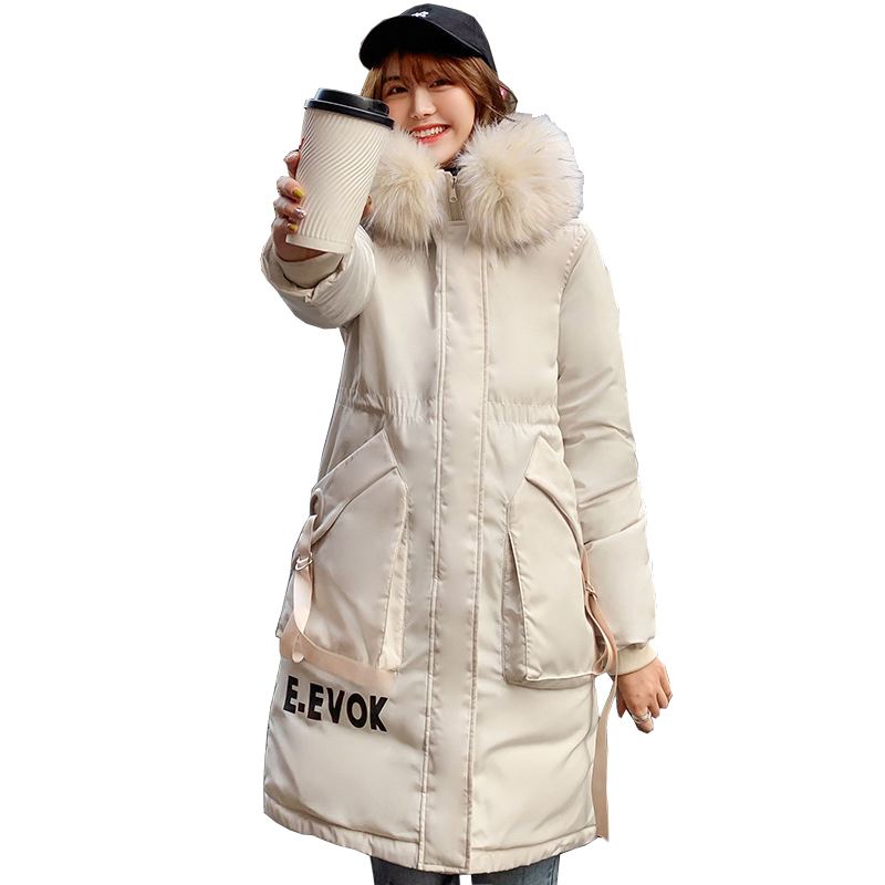 New Winter Jacket Women Coat Warm Thick Long   Parkas   2019 Fashion Fur Collar Hooded For Women Coats Female Jacket kz004