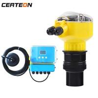 Non contact Level Measurement transmitter meter gauges ultrasonic water level sensors for liquid Storage tank reaction kettle