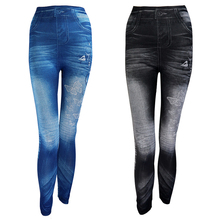 New 2020 Women Autumn Jeans Leggings Skinny Slim Thin High Elastic Waist Pencil Pants Black Denim Leggings For Women Plus Size