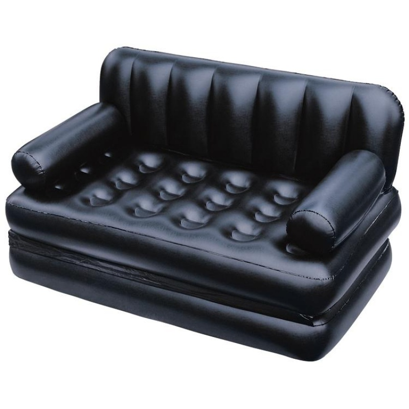 H1 Inflatable Sofa This Intex Lounge Blow Up Pull Out Queen Size Air Mattress Couch Best For Indoor Or Outdoor Use Airbed