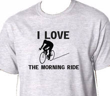 2019 Summer Tee Shirt I Love The Morning Ride T Shirt Cyclings Bikes Helmet Tires Race Custom T-Shirt(China)