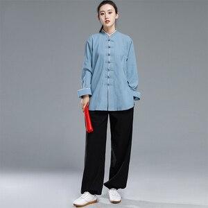 Image 5 - Новая форма тайцзи кунг фу, комплект с китайским платьем для женщин, китайская одежда для мужчин, традиционная китайская одежда для женщин, униформа