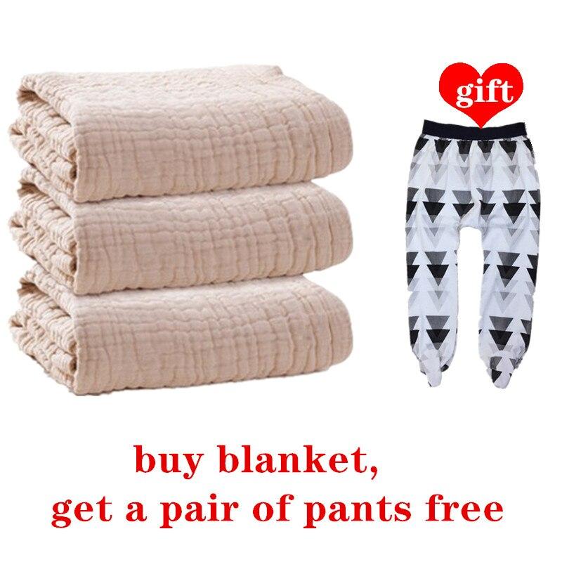 COSPOT Newborn Muslin Bath Towel Bebes 100% Organic Cotton 6 Layers Gauze Blanket Baby Swaddle Blankets Hold Wraps 2020 New 45