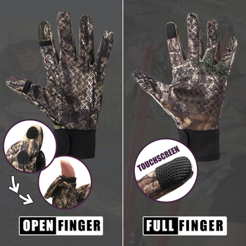Camouflage Fishing Gloves Hunting Gloves Anti-Slip 2 Fingers Cut Outdoor Camping Cycling Half Finger Sport Gloves Camo 5