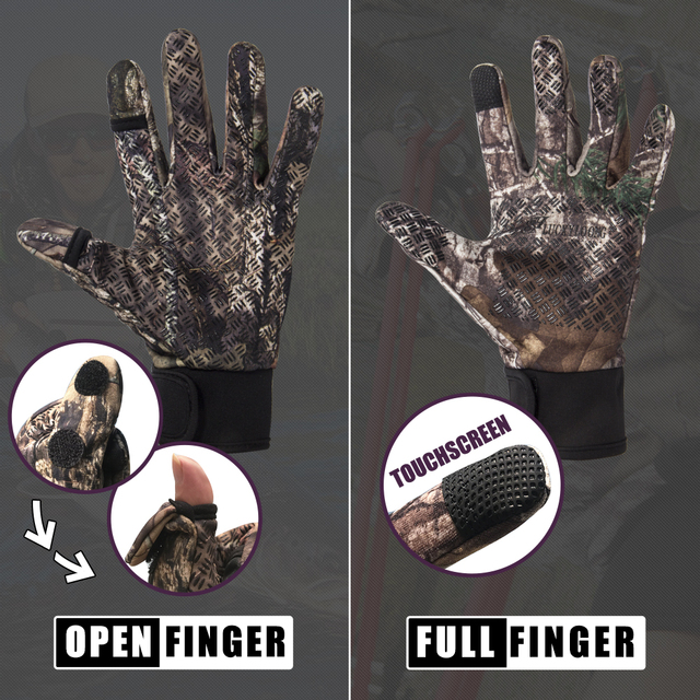 Camouflage Fishing Gloves