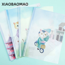 10pcs L-Shaped Clear Document Bag Organizer Waterproof PVC A4 Office Paper File Folder School Supplies Stationery A4 Folder