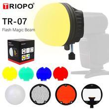 TRIOPO TR 07 MagDome filtr kolorów reflektor Honeycomb dyfuzor piłka akcesoria fotograficzne zestawy do GODOX błysk yongnuo wymienić