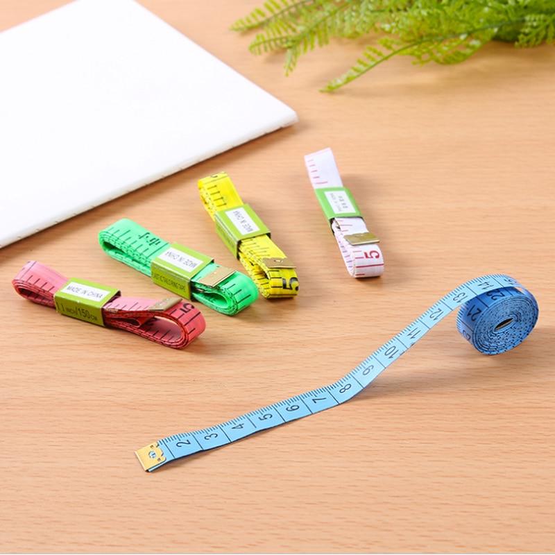 1.5 m costura régua medidor de costura fita de medição de costura régua de medição do corpo costura fita medida suave cor aleatória