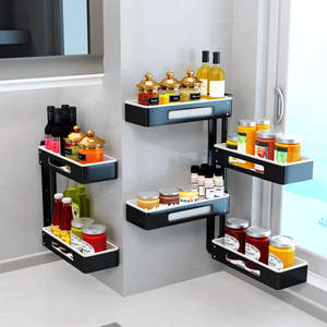 Receive Kitchen-Buy-Content Seasoning-To-Wear Perforated-On-The-Wall Is Worn-Corner
