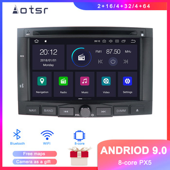 DSP Android 9.1 Car GPS Navigation Car DVD Player For Peugeot 3008 2009-2016 Auto Stereo Radio Multimedia player Head Unit Video