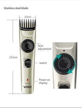 VGR Electric Rechargeable For Men Beard Trimmer Razor  LED Hair Clipper Adjustable USB