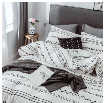 Brief Printed Duvet Cover Pillow Case No Bed Sheet 2/3pcs Pure Cotton Bedding Set Modern Double Sided Bedding Linens For Home