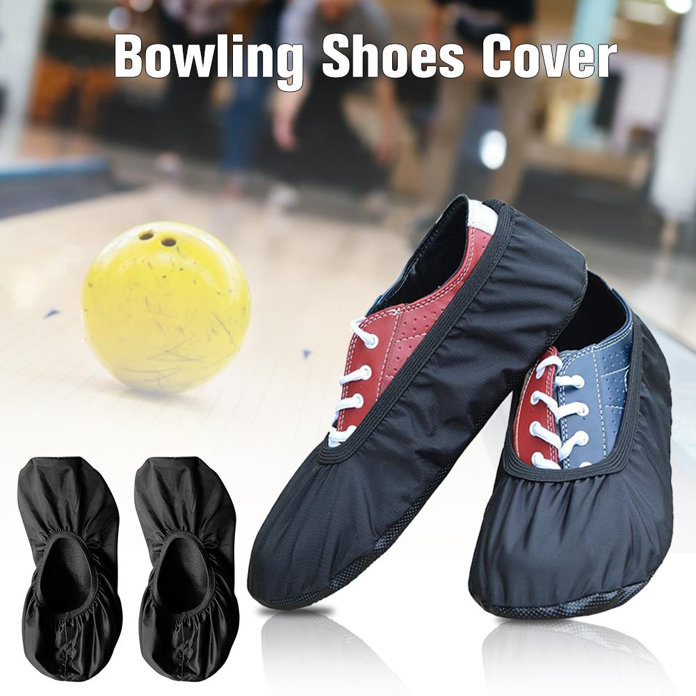 1 Pair Nylon Waterproof Premium Black Elastic Fabric Sports Bowling Shoe Slider Cover Replacement Accessories For Bowling Sports