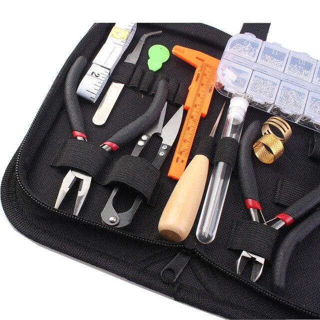 Jóias fazendo suprimentos kit com fio de jóias e descobertas de jóias starter kit jóias beading fazendo e ferramentas reparo kit hk257 6