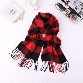 2019 Luxury Brand Men's Winter Plaid Scarf  warm women Cashmere shawls Scarves Casual Tassel Scarfs Man Business scarf pashmina 1